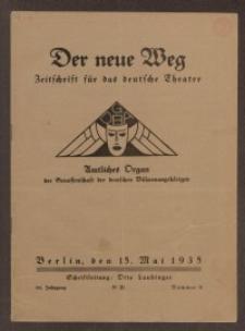 Der neue Weg. Halbmonatsschrift für das deutsche Theater, 64. Jg.1935, H. 9