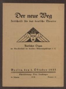 Der neue Weg. Halbmonatsschrift für das deutsche Theater, 64. Jg.1935, H. 14