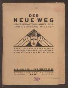 Der neue Weg. Halbmonatsschrift für das deutsche Theater, 59. Jg.1930, H. 23