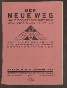 Der neue Weg. Halbmonatsschrift für das deutsche Theater, 62. Jg.1933, H. 2