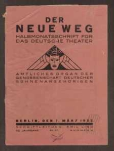 Der neue Weg. Halbmonatsschrift für das deutsche Theater, 62. Jg.1933, H. 4