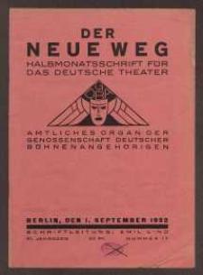 Der neue Weg. Halbmonatsschrift für das deutsche Theater, 61. Jg.1932, H. 17