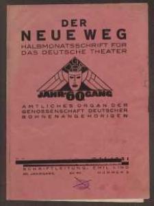 Der neue Weg. Halbmonatsschrift für das deutsche Theater, 60. Jg.1931, H. 9