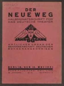 Der neue Weg. Halbmonatsschrift für das deutsche Theater, 60. Jg.1931, H. 10