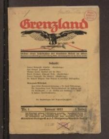 Grenzland. Blätter eines Jahrbuches der deutschen Arbeit im Osten, 3. Jg. 1922, H. 1.