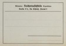 Absender: Reichstauschstelle [druk]