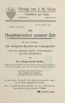 Verlag von J. St. Goar [ulotka reklamowa]