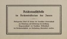 Reichstauschstelle im Reichsministerium des Innern [druk]