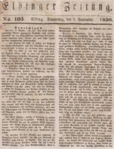 Elbinger Zeitung, No. 105 Donnerstag, 5. September 1850