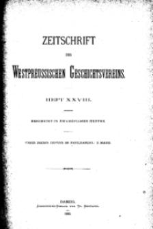 Zeitschrift des Westpreußischen Geschichtsvereins, 1890, H. 28