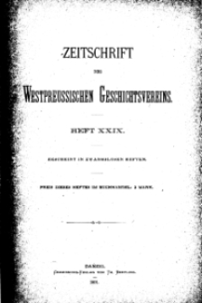 Zeitschrift des Westpreußischen Geschichtsvereins, 1891, H. 29