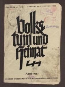 Volkstum und Heimat,1938, [H. 4]