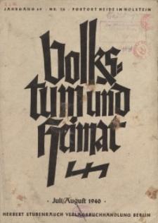 Volkstum und Heimat,1940, [H. 7/8]