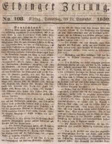 Elbinger Zeitung, No. 108 Donnerstag, 12. September 1850