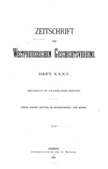 Zeitschrift des Westpreußischen Geschichtsvereins, 1896, H. 35