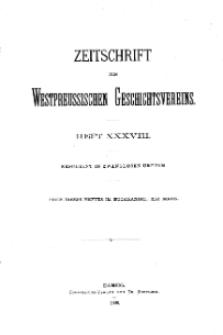 Zeitschrift des Westpreußischen Geschichtsvereins, 1898, H. 38