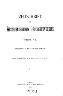 Zeitschrift des Westpreußischen Geschichtsvereins, 1899, H. 40