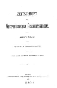 Zeitschrift des Westpreußischen Geschichtsvereins, 1902, H. 44