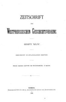 Zeitschrift des Westpreußischen Geschichtsvereins, 1903, H. 45