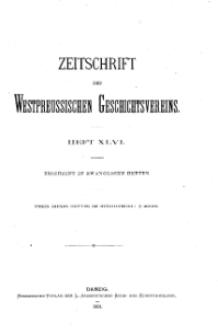 Zeitschrift des Westpreußischen Geschichtsvereins, 1904, H. 46
