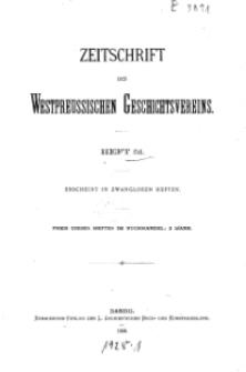 Zeitschrift des Westpreußischen Geschichtsvereins, 1909, H. 51
