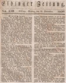 Elbinger Zeitung, No. 110 Montag, 16. September 1850