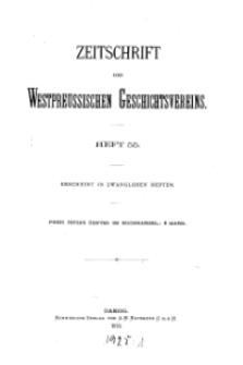 Zeitschrift des Westpreußischen Geschichtsvereins, 1913, H. 55