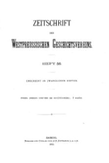 Zeitschrift des Westpreußischen Geschichtsvereins, 1916, H. 56
