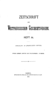 Zeitschrift des Westpreußischen Geschichtsvereins, 1918, H. 58