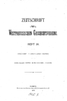 Zeitschrift des Westpreußischen Geschichtsvereins, 1919, H. 59