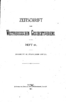 Zeitschrift des Westpreußischen Geschichtsvereins, 1921, H. 61
