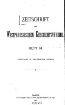 Zeitschrift des Westpreußischen Geschichtsvereins, 1922, H. 63