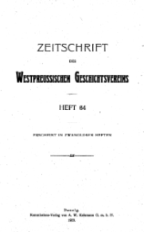 Zeitschrift des Westpreußischen Geschichtsvereins, 1923, H. 64