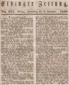 Elbinger Zeitung, No. 111 Donnerstag, 19. September 1850