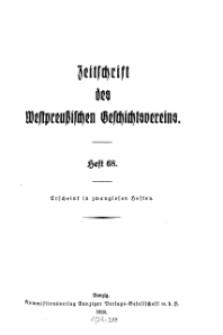 Zeitschrift des Westpreußischen Geschichtsvereins, 1928, H. 68