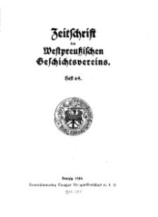 Zeitschrift des Westpreußischen Geschichtsvereins, 1929, H. 69