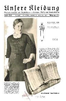 Unsere Kleidung : Vierteljahreshefte mit Schnittbogen-Kleidung Wäsche und Handarbeiten, 1936, H. 3.