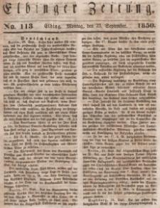 Elbinger Zeitung, No. 113 Montag, 23. September 1850