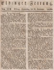 Elbinger Zeitung, No. 114 Donnerstag, 26. September 1850