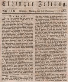 Elbinger Zeitung, No. 116 Montag, 30. September 1850