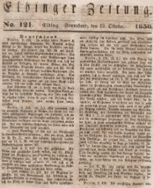 Elbinger Zeitung, No. 121 Sonnabend, 12. Oktober 1850