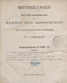 Mittheilungen aus Justus Perthes' Geographischer: Ergänzungsband: 1869-1872