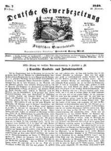 Deutsche Gewerbezeitung und Sächsisches Gewerbeblatt, Jahrg. XIV, Dienstag, 23. Januar, nr 7.