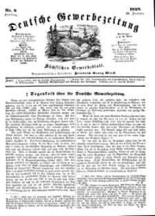 Deutsche Gewerbezeitung und Sächsisches Gewerbeblatt, Jahrg. XIV, Freitag, 26. Januar, nr 8.
