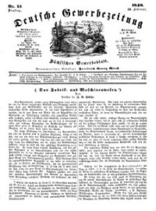 Deutsche Gewerbezeitung und Sächsisches Gewerbeblatt, Jahrg. XIV, Dienstag, 20. Februar, nr 15.