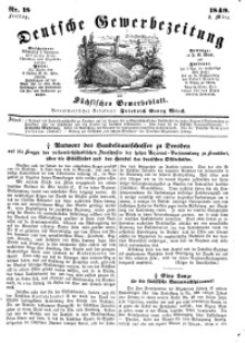 Deutsche Gewerbezeitung und Sächsisches Gewerbeblatt, Jahrg. XIV, Freitag, 2. März, nr 18.