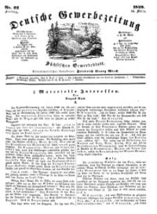 Deutsche Gewerbezeitung und Sächsisches Gewerbeblatt, Jahrg. XIV, Freitag, 16. März, nr 22.