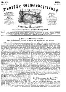 Deutsche Gewerbezeitung und Sächsisches Gewerbeblatt, Jahrg. XIV, Freitag, 23. März, nr 24.