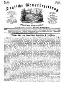 Deutsche Gewerbezeitung und Sächsisches Gewerbeblatt, Jahrg. XIV, Dienstag, 27. März, nr 25.