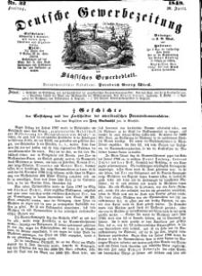 Deutsche Gewerbezeitung und Sächsisches Gewerbeblatt, Jahrg. XIV, Freitag, 20. April, nr 32.